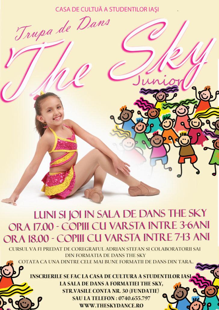Afis Curs de Dans Copii - Trupa The Sky 2016 - var 2