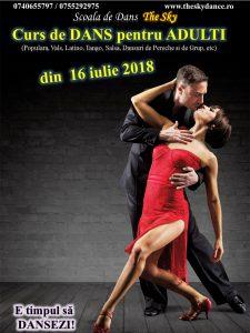 Afis curs dansuri adulti 16.07.2018 Scoala de dans The Sky Iasi
