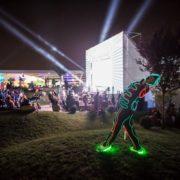 Trupa The Sky - show lumini