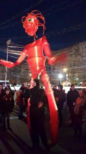 Papusi Uriase giant puppet The Sky Iasi