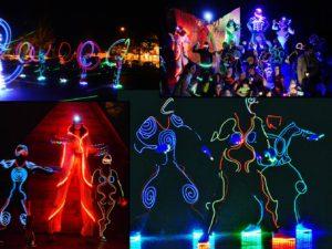 Lithing Show Costume cu Lumini Trupa de Dans si Entertainment The Sky Iasi by Adrian Stefan